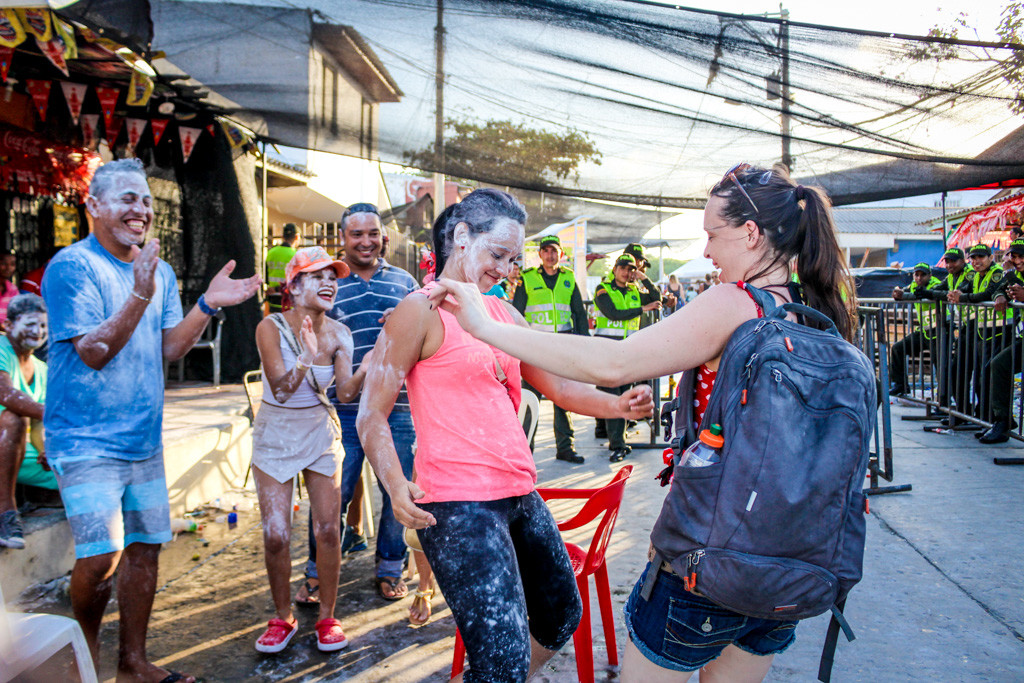 Dancing in the streets with strangers at Carnival in Barranquilla, Colombia
