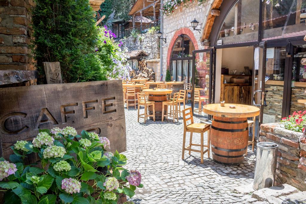 The restaurant at Matka Canyon, Macedonia
