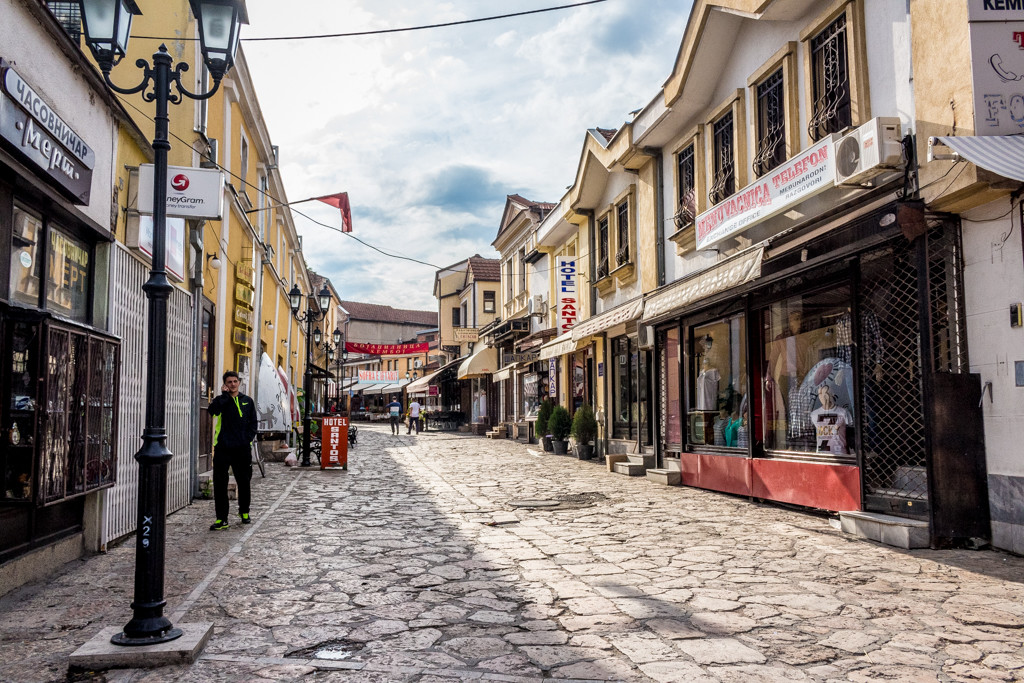 Skopje's Old Bazaar on a Sunday afternoon