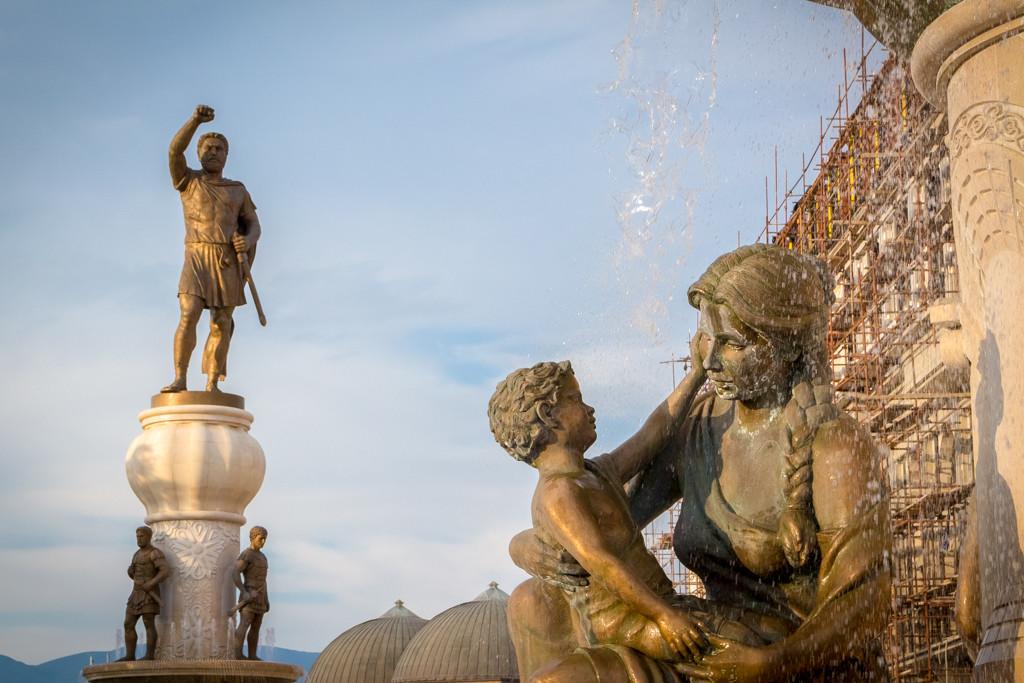 Warrior statue in Skopje, Macedonia