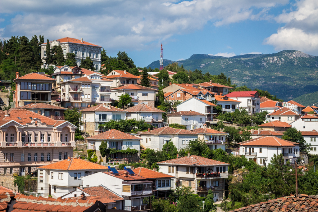 The City of Ohrid, Macedonia