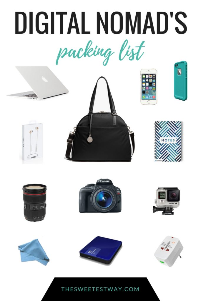 The digital nomad packing list--the tech and accessories I need to work efficiently from the road (and look chic while doing it!)