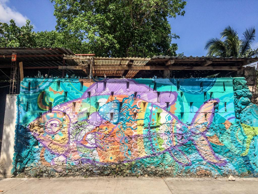 Street art in Tulum, Mexico