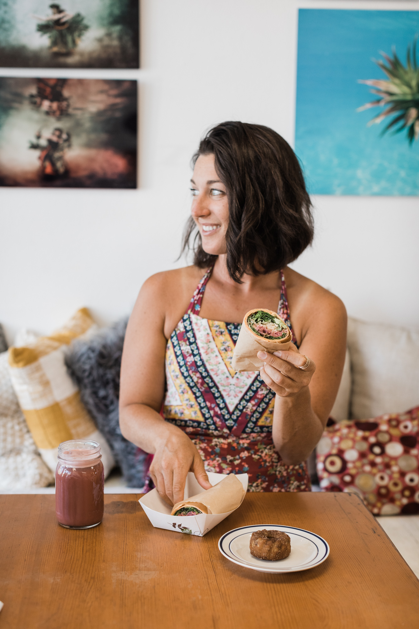 VeHealthy vegan and vegetarian food at That's A Wrap Cafe, Kihei Maui